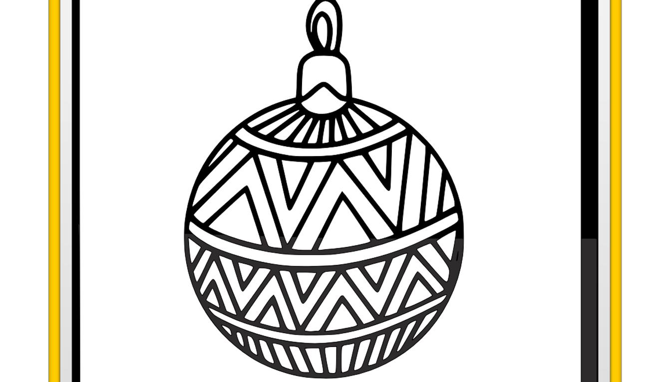 Kleurplaat Kerstbal