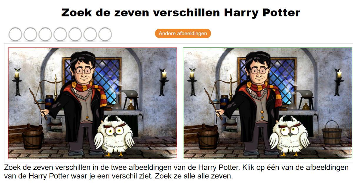 Hedendaags Zoek de 7 verschillen - Harry Potter OM-91