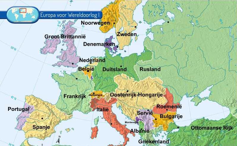 Wereldoorlog 1 Geografisch Weergegeven
